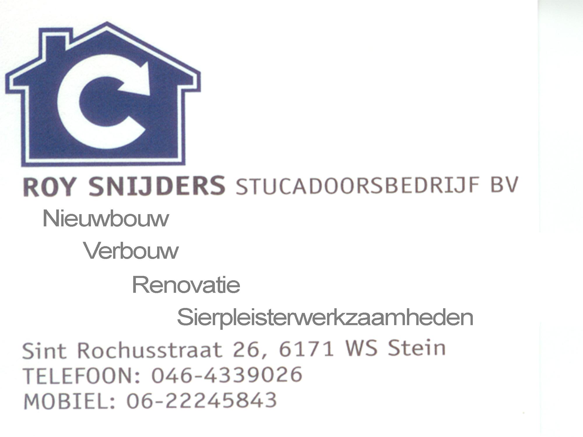 Stucadoorsbedrijf Roy Snijders